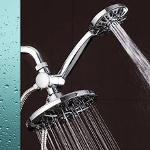 "AquaDance 7"" Premium High Pressure 3-Way Rainfall Combo Combines The Best of Both Worlds-Enjoy Luxurious Rain Showerhead and 6-Setting Hand Held Shower Separately or Together, Chrome"