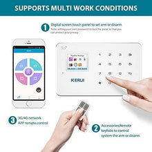 GSM 3G Alarm System Kit - KERUI G183 Wireless WCDMA DIY Home and Business Security Burglar Alarm System Auto Dial Easy to Install,APP Control by Text,not support wifi and/or Landline