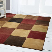 "Home Dynamix Brookings Modern Area Rug, 7'10""x10'2"" Rectangle, Beige-Red"