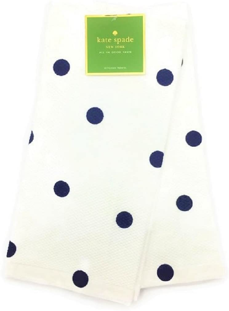 Kate Spade New York French Navy Polka Dot Kitchen Towel Set