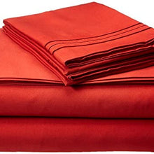 Elegant Comfort 1500 Thread Count Egyptian Quality Wrinkle and Fade Resistant 3-Piece Duvet Cover Set, King/California King, Rust