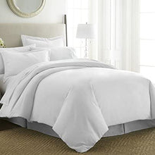 Becky Cameron ienjoy Home 3 Piece Double Brushed Microfiber Duvet Cover Set, California King, White, Queen