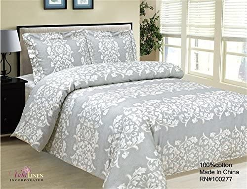 Violet Linen French Emblem Collection 8 Twin Duvet Set, 39
