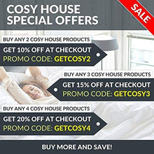 Cosy House Collection Luxury Bamboo Duvet Cover Set 2-Piece - Ultra Soft Hypoallergenic Bedding - Zippered Comforter Protector