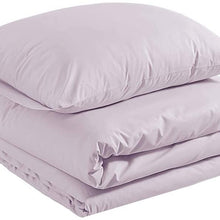AmazonBasics Sateen 400TC Cotton Duvet Comforter Cover Set, Full / Queen