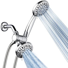 AquaDance Total Chrome Premium High Pressure 48-setting 3-Way Combo for The Best of Both Worlds – Enjoy Luxurious 6-setting Rain Shower Head and 6-Setting Hand Held Shower Separately or Together