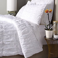 Be-You-tiful Home Sophie 3-Piece Cotton Duvet Cover Set, Queen, White