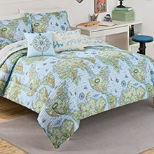 Waverly Kids Buon Viaggio Comforter Set, Twin, Blue