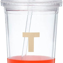kate spade new york Dipped Tumbler with Straw, Red