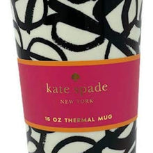 Kate Spade Thermal Mug, Literary Glasses, 16 oz