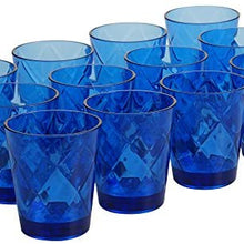 Certified International Cobalt Blue 15 oz Acrylic Double Old Fashion Drinkware (Set of 12), Cobalt Blue