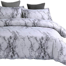 ZHIMIAN Bedding Duvet Cover Set with Zipper Closure-Printed Marble Design Ultra Soft Hypoallergenic Microfiber(1 Duvet Cover + 2 Pillow Shams)