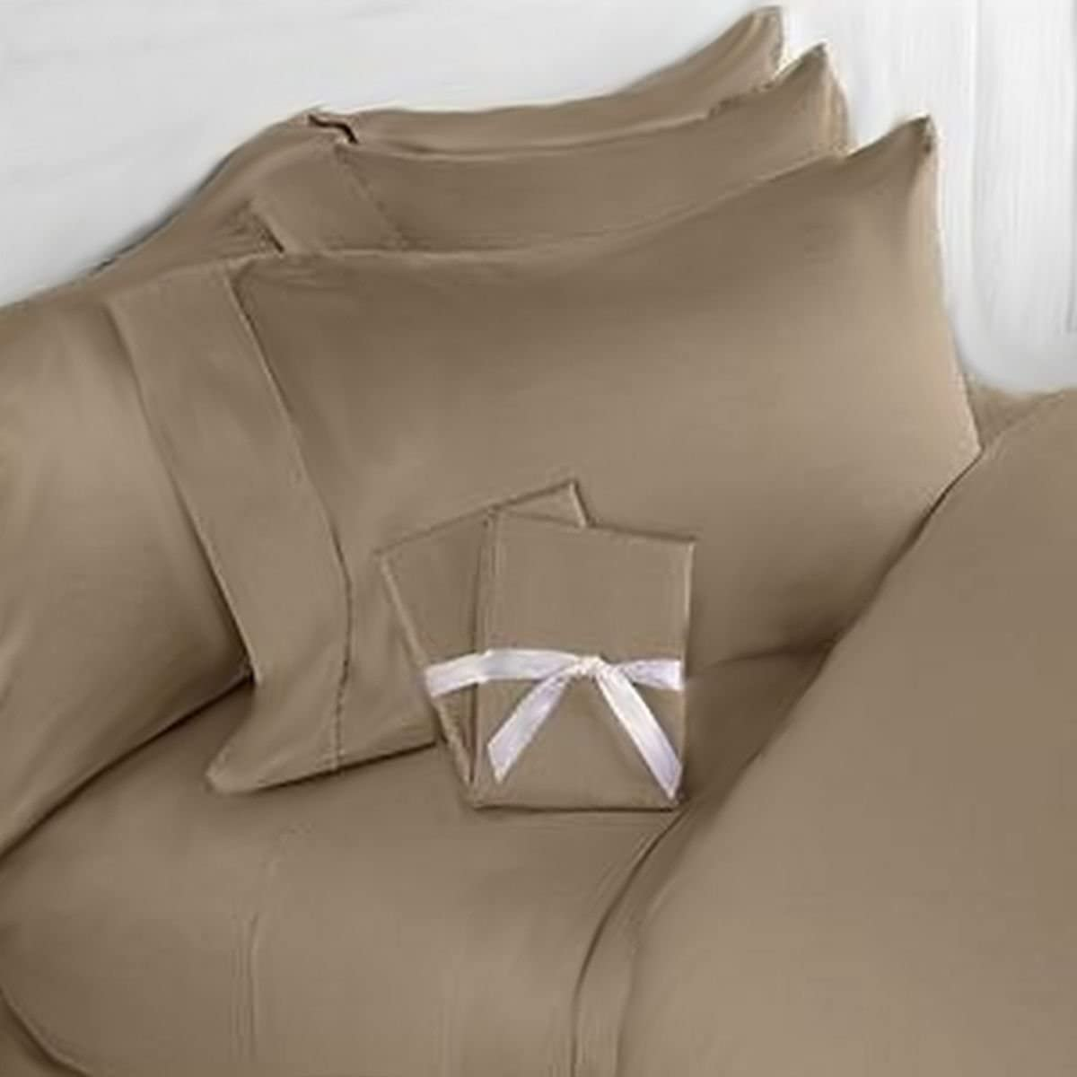 Elegant Comfort 3 Piece 1500 Thread Count Luxury Ultra Soft Egyptian Quality Coziest Duvet Cover Set, King/California King, Taupe