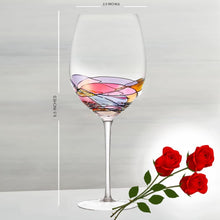 Culinaire 21 Ounce Stemmed Wine Glasses - Set Of 4 - Hand Painted, Exquisite Design, Durable, Ideal For Weddings, Anniversary, Engagement Party,Great Gift For Wine Enthusiasts, Aesthetic Packaging
