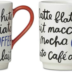 Kate Spade New York Piping Hot Mug Set of Two Collection (Tea)