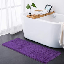 ITSOFT Non Slip Shaggy Chenille Bath Mat for Bathroom Rug Water Absorbent Carpet 21 x 34 Inches Charcoal Gray