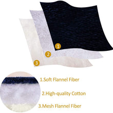 "uxcell Reversible Fleece Blanket Queen Size,3 Layers Microfiber Plush Flannel Blankets for Bed,78"" x 90"""