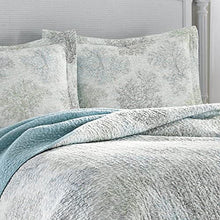Eddie Bauer Saltwater Collection Luxury Premium Ultra Soft Quilt Coverlet, Comfortable 2 Piece Bedding Set, All Season Stylish Bedspread, Twin, Blue