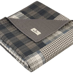 Woolrich Woolrich Check Luxury Quilted Throw Red 50x70   Plaid Premium Soft Cozy 100% Cotton For Bed