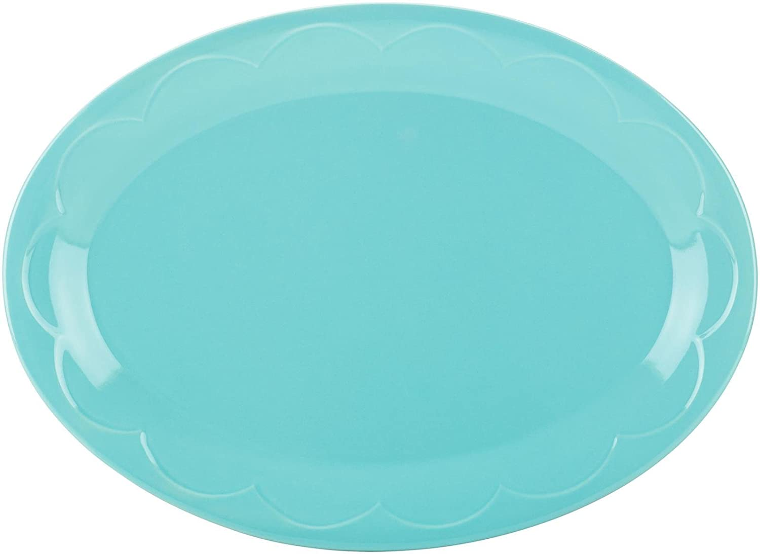 kate spade new york kitchen Turquoise Sculpted Scallop 14 Inch Serving Platter