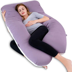QUEEN ROSE Pregnancy Pillow(2 Sideds)-U Shaped Maternity Body Pillow with Cover