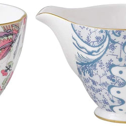 Wedgwood Harlequin Butterfly Bloom Ceramic Creamer and Sugar Cup