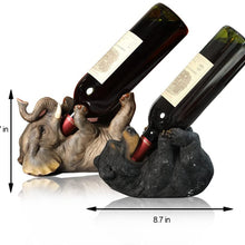 ARAIDECOR Drinking Bear Wine Holder Sculpture Home Decor or Restaurant Setting Statue - 5.7 x 8.7 Inches (Bear Head Holder)