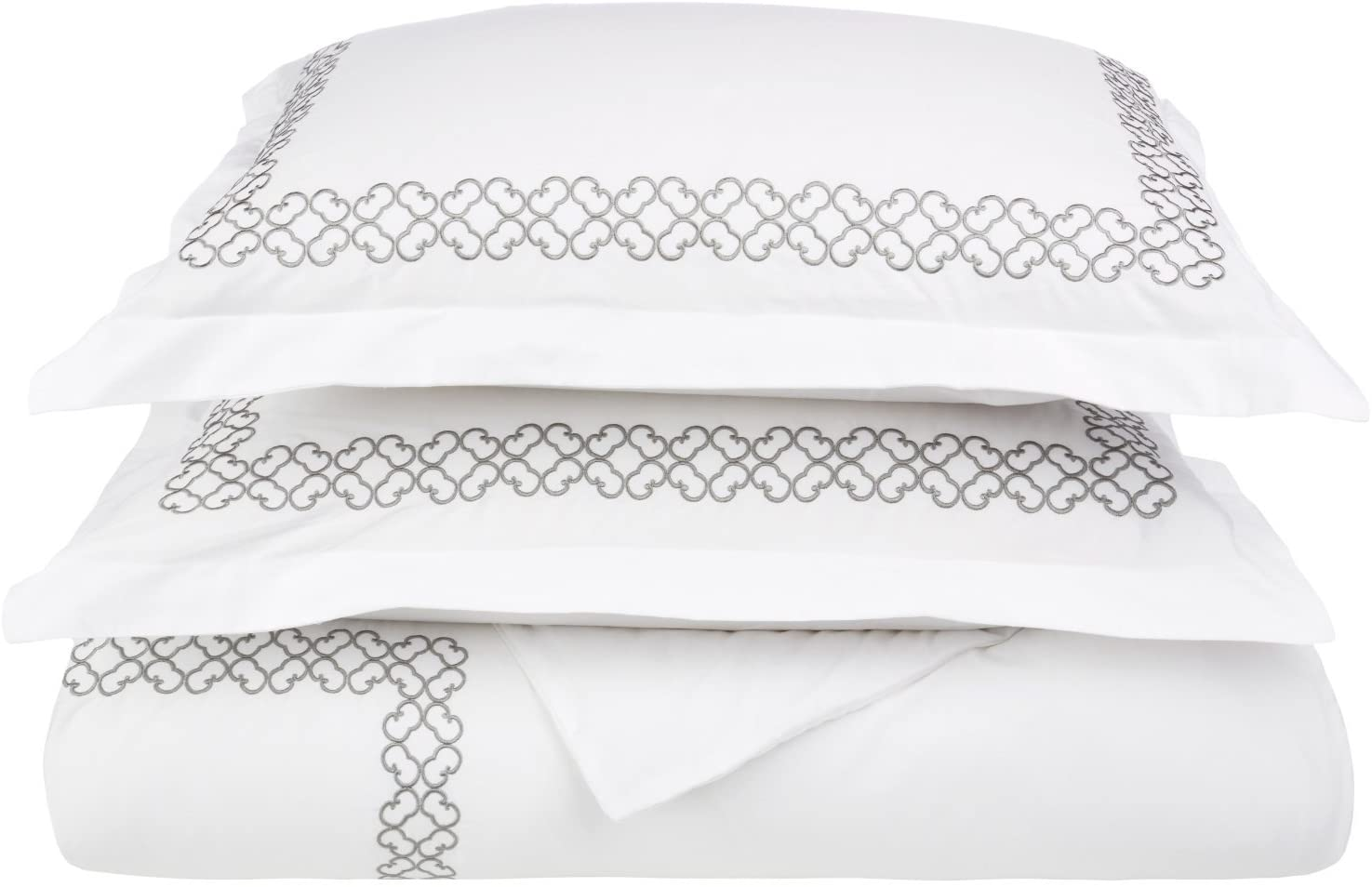 Clayton Luxury Embroidery 100% Cotton King/California King 3 pc Duvet Cover Set