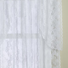 LORRAINE HOME FASHIONS Monaco Super Wide Tailored Window Panel, 120 by 84-Inch, Antique Ivory
