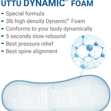 UTTU Sandwich Pillow, Adjustable Memory Foam Pillow, Bamboo Pillow for Sleeping, Cervical Pillow for Neck Pain, Neck Support for Back, Stomach, Side Sleepers, Orthopedic Contour Pillow