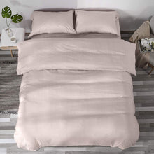 MIMONG Microfiber Zipper Closure Duvet Cover with 1 Coconut Button Pillowcase, Soft Luxury Hypoallergenic & Breathable Easy Care Bedding Set(Grey