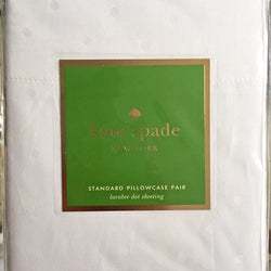 Kate Spade New York Standard Pillowcase Set White Larabee Dot
