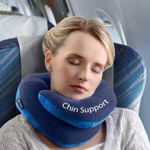 BCOZZY Chin Supporting Travel Pillow- Keeps The Head from Falling Forward- Comfortably Supports The Head, Neck and Chin in Any Sitting Position. Adult Size, Set of 2