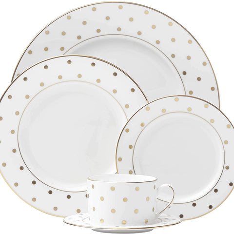 Kate Spade Larabee Road Gold 5-piece Place Setting, 4.5 LB, Metallic