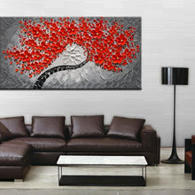 "baccow 30 * 30"" Red Metallic 3D Wall Art Oil Painting Handmade Abstract Wall Art Painting Picture Decoration"