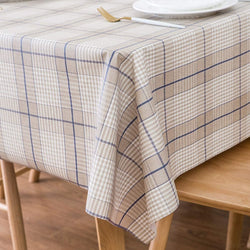 LEEVAN Heavy Weight Vinyl Square Table Cover Wipe Clean PVC Tablecloth Oil-Proof/Waterproof Stain-Resistant-54 x 108 Inch (Elegant Plaid)