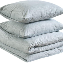 AmazonBasics Brushed Percale Cotton Duvet Comforter Cover Set, Twin / Twin XL