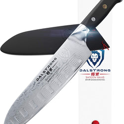 DALSTRONG Santoku Knife - Shogun Series - Damascus - Japanese AUS-10V Super Steel 67 Layers - Vacuum Treated - 7