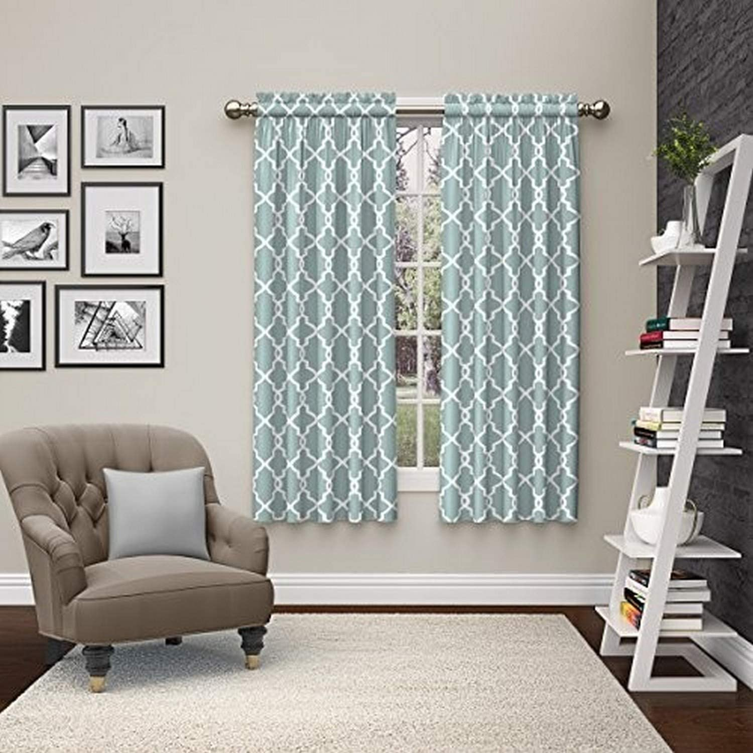 PAIRS TO GO Vickery Rod Pocket Curtains for Living Room, Double Panel, 28