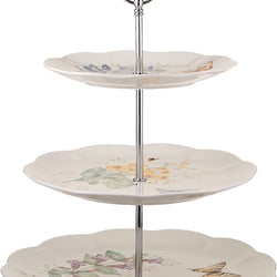 Lenox Butterfly Meadow 3-tiered Server, 4.1 LB, Multi