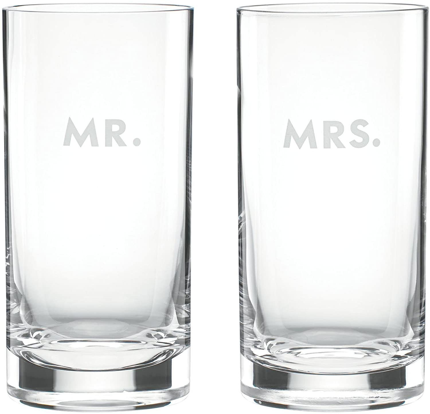 kate spade new york Darling Point Mr. and Mrs. Highball Glasses, Set of 2