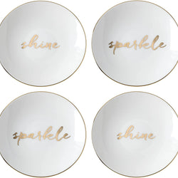 Kate Spade New York Oh What Fun Dinnerware Tidbit Appetizer Accent Plates, Set of 4