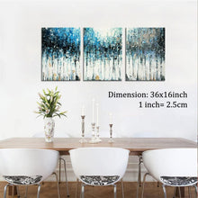 Abstract Handmade Oil Painting on Canvas Seascape Contemporary Art Wall Paintings for Home Office Decor (12x16inchx3pcs
