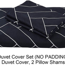 Top Finel 3 Piece King Duvet Cover Set Chevron Comforter Cover Zipper Closure with 2 Pillow Shams Soft Microfiber Bedding Set Modern Geometric Pattern Reversible Design Black and White, 90 x 104 Inch