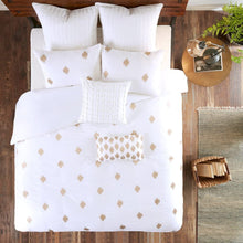 Ink+Ivy Stella Dot 3 Piece Cotton Percale Duvet Cover Mini Set Copper King/Cal King