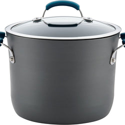 Rachael Ray 82722 Brights Hard Anodized Nonstick Stock Pot/Stockpot with Lid - 8 Quart