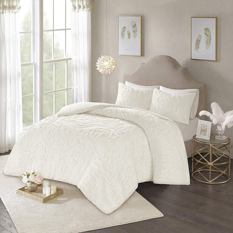 Madison Park Laetitia Shabby Chic Cozy All Season Comforter Cover Bed Set with Matching Shams, King/Cal King(104