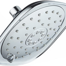 AquaDance Pressure 3-Function Giant 7.3-Inch Designer Rain Shower Head w/High Pulsating Massage & Whisper-Quiet(TM) Technology More Power-Less Noise/Brass Metal Connection Nut, Anti-Clog Jets, Chrome