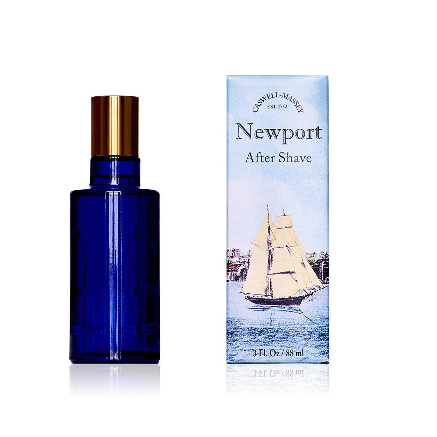 Caswell-Massey Newport After Shave – Soothing Aftershave Infused With Scents of Sandalwood, Citrus, and Cedar Made In USA