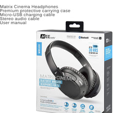 MEE audio Matrix Cinema Bluetooth wireless headphones with aptX Low Latency and CinemaEAR audio enhancement for clearer sound in TV shows and movies
